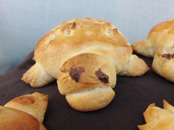 peanut butter turtle rolls