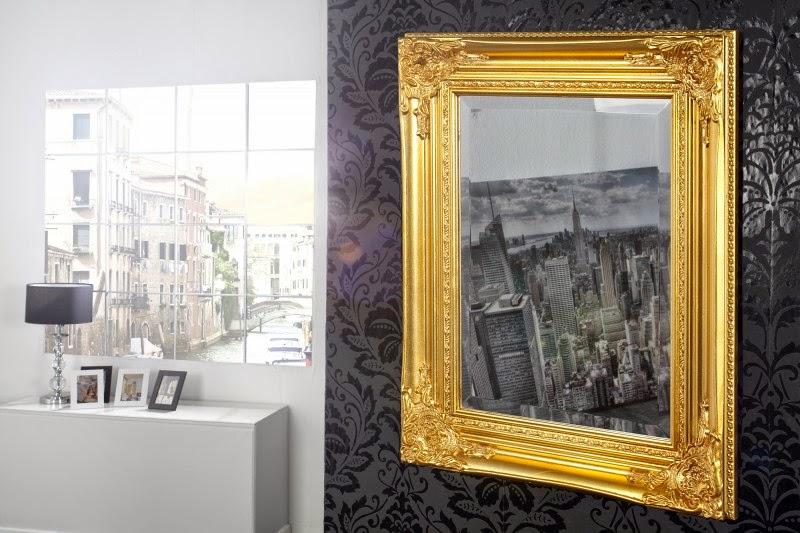 zrkadlo na stenu zlate, luxusne zrkadla reaction
