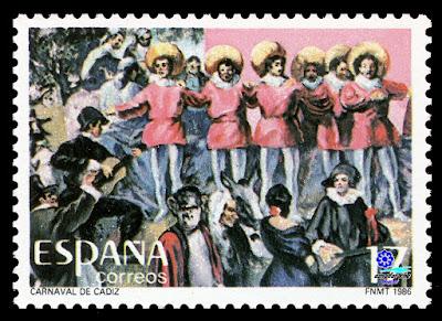 Filatelia - Carnaval de Cádiz 1986