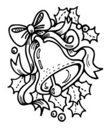 Dibujos y Plantillas para imprimir: Campanas navidad