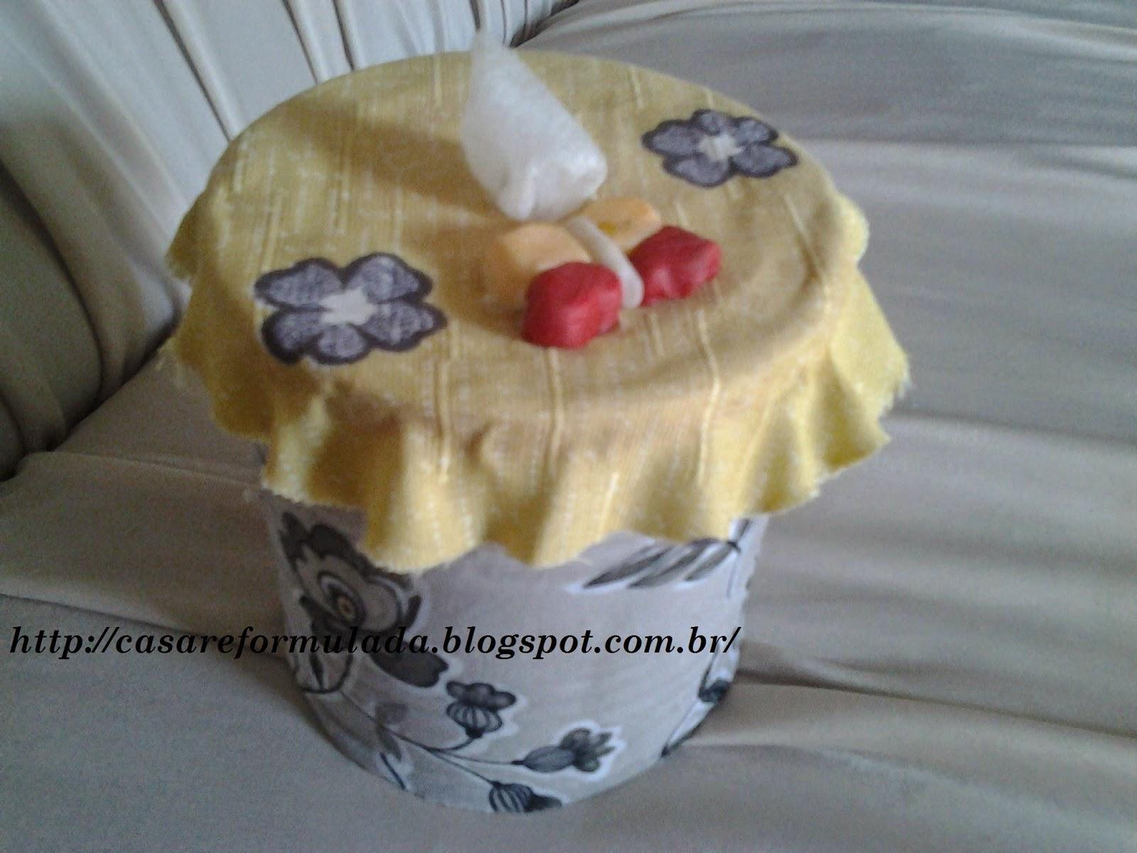 Reciclagem de lata para porta lençol umedecido