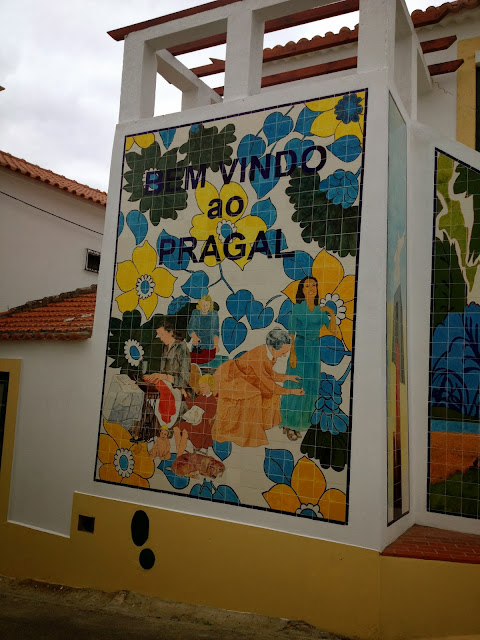Tile sign in Lisbon on Semi-Charmed Kind of Life