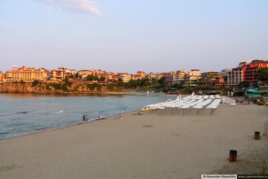 Пляж вечером в Созполе | The beach in the evening. Sozopol (Bulgaria)