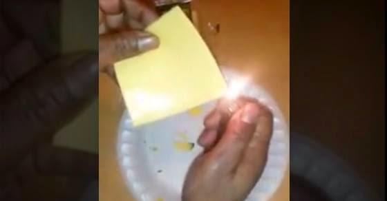 This is What Happens When You Light Processed Cheese On Fire