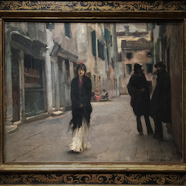 """Street In Venice"" 1882 by John Singer Sargent."