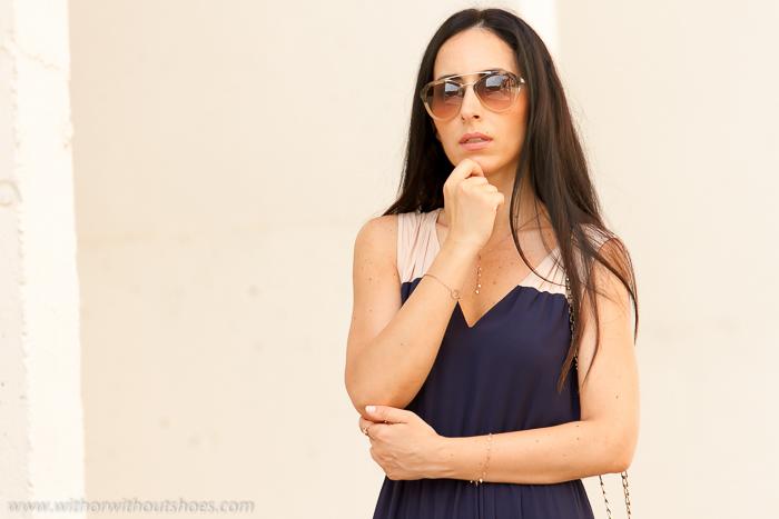Blogger de Valencia de moda con gafas de sol Prada