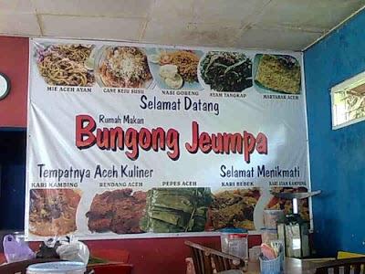 Berbagai Menu di Bungong Jeumpa
