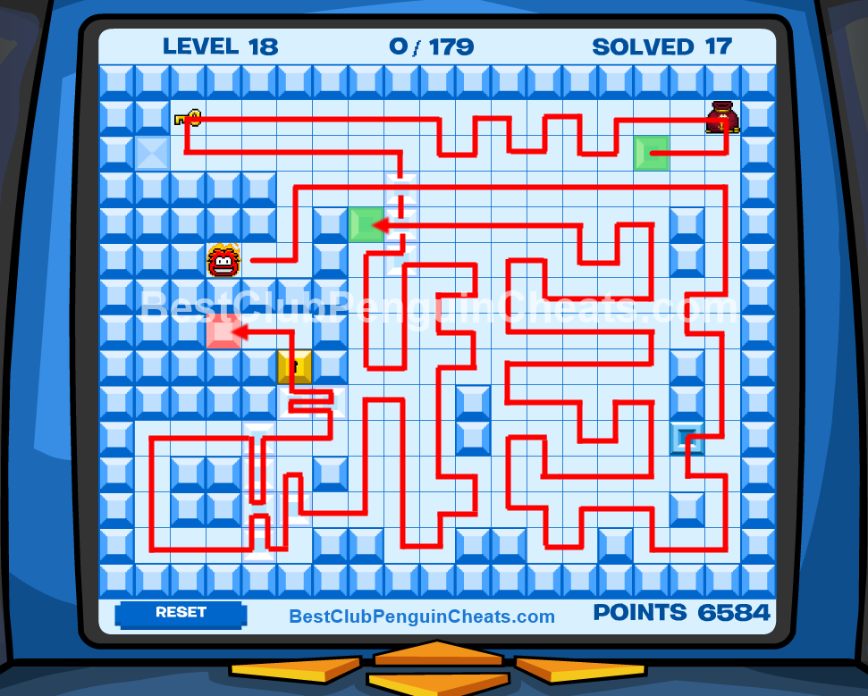 Club Penguin Thin Ice Cheats Level 18