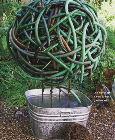 Recycled garden art ideas for pinterest