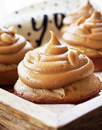 Banaani- maapähkinävoi- muffinit