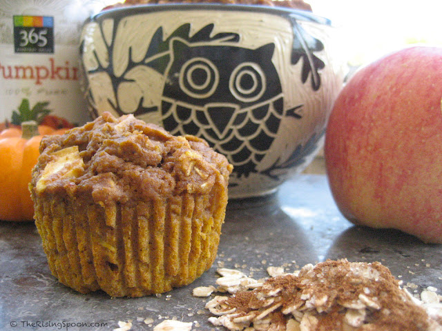 The Rising Spoon Blog: Super Moist Pumpkin-Apple Harvest Muffins. They're basically Fall in a Muffin!