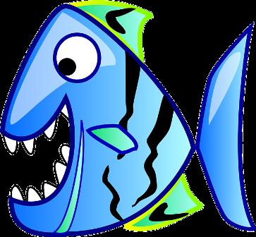 pesce piranha blu