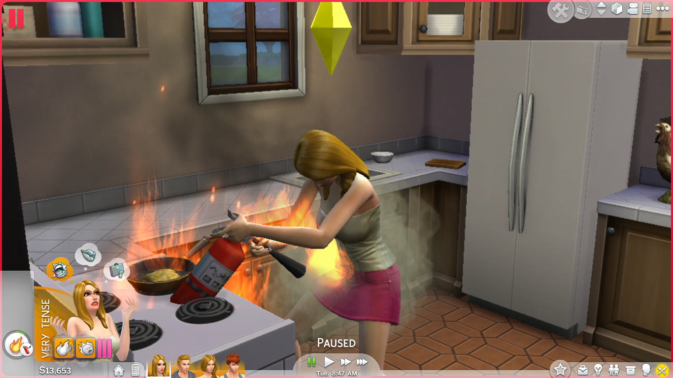 Sims 4 Gameplay,Sims 4 Fire