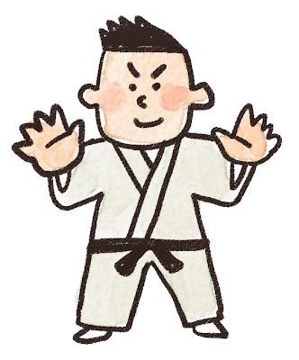 柔道家のイラスト(スポーツ)