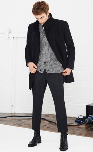 abrigo negro de hombre Zara