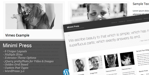 Miniml Press Wordpress Theme Free Download by ThemeForest.