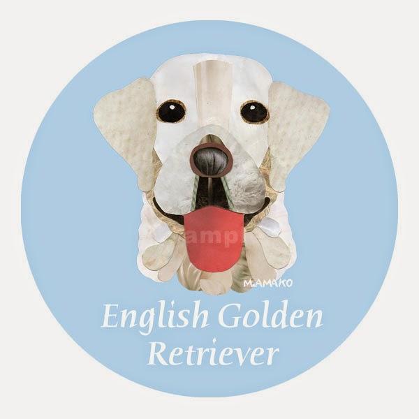 英国ゴールデン・レトリバー 犬種名ステッカー カーステッカー