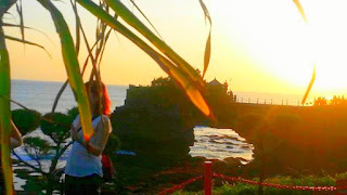 Sunset in Tanah Lot Temple Tabanan Bali