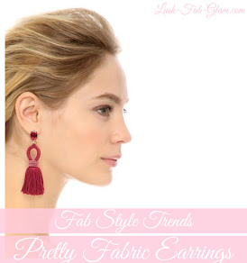 Fab Style Trends: Pretty Fabric Earrings.