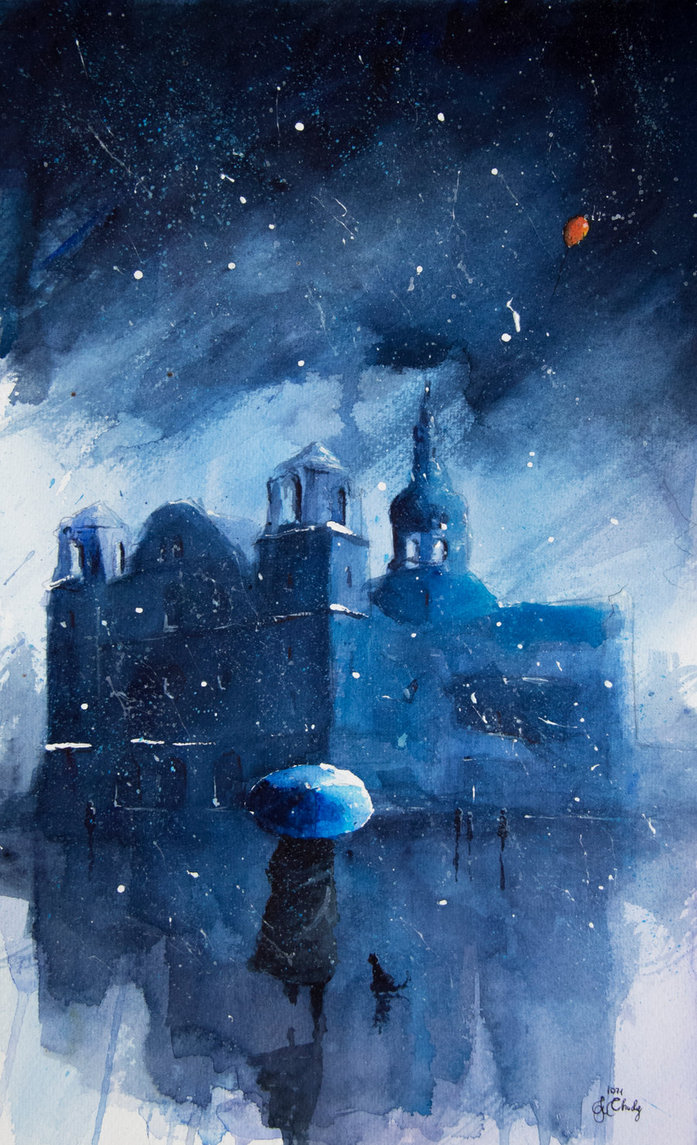 11-A-night-in-Nikiszowiec-Grzegorz-Chudy-sanderus-Dreams-Started-with-Watercolor-Paintings-www-designstack-co