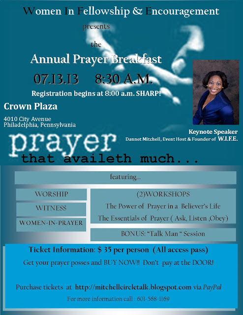 Women's Prayer Breakfast Flyer Template