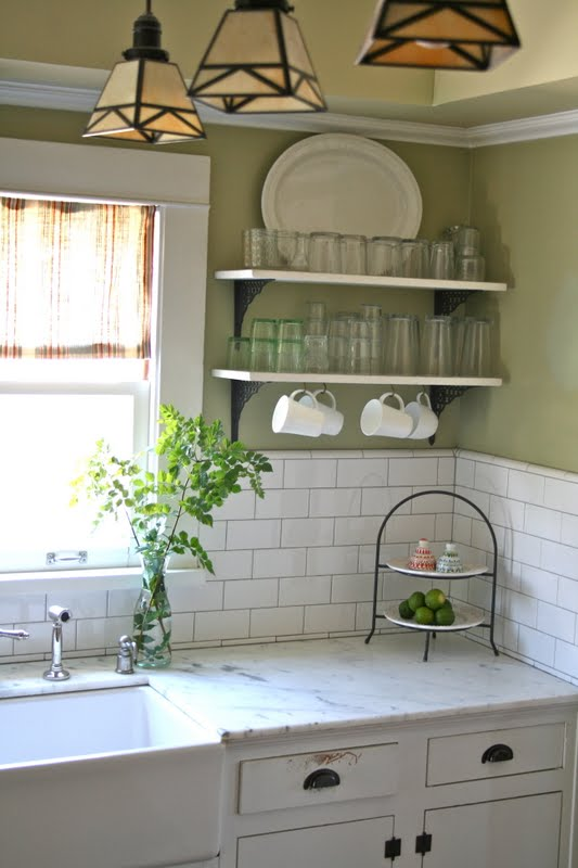 The Given Life Green And White Kitchen