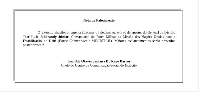 http://www.eb.mil.br/documents/10138/6107625/Nota+de+Falecimento.pdf/a64ea241-b4cb-403b-acaa-278405fca177
