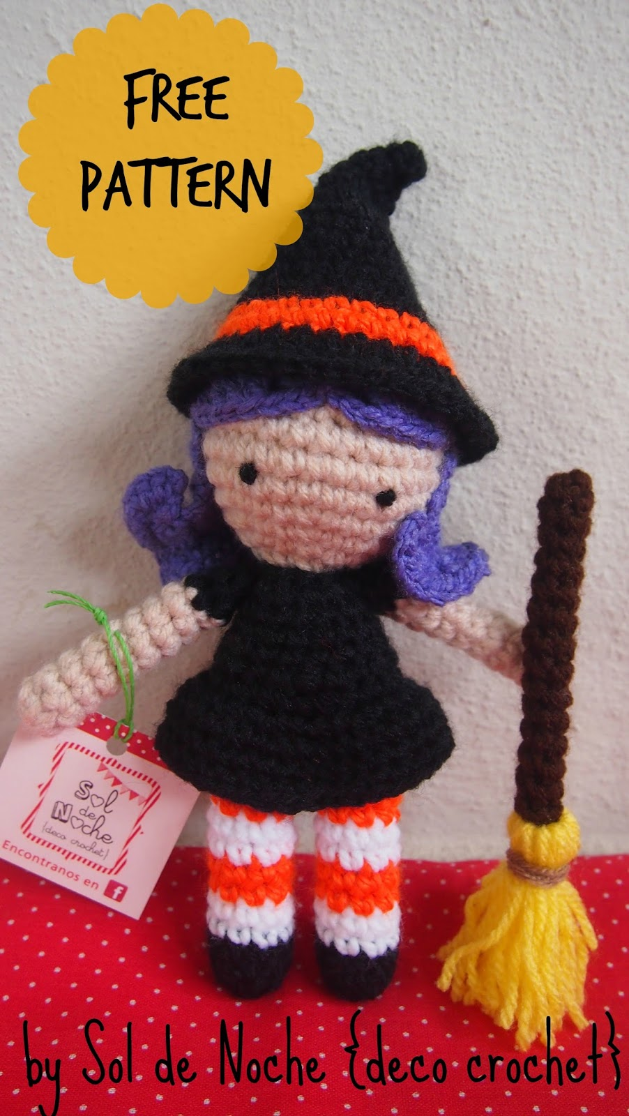 sol de noche deco crochet free pattern little witch. Black Bedroom Furniture Sets. Home Design Ideas