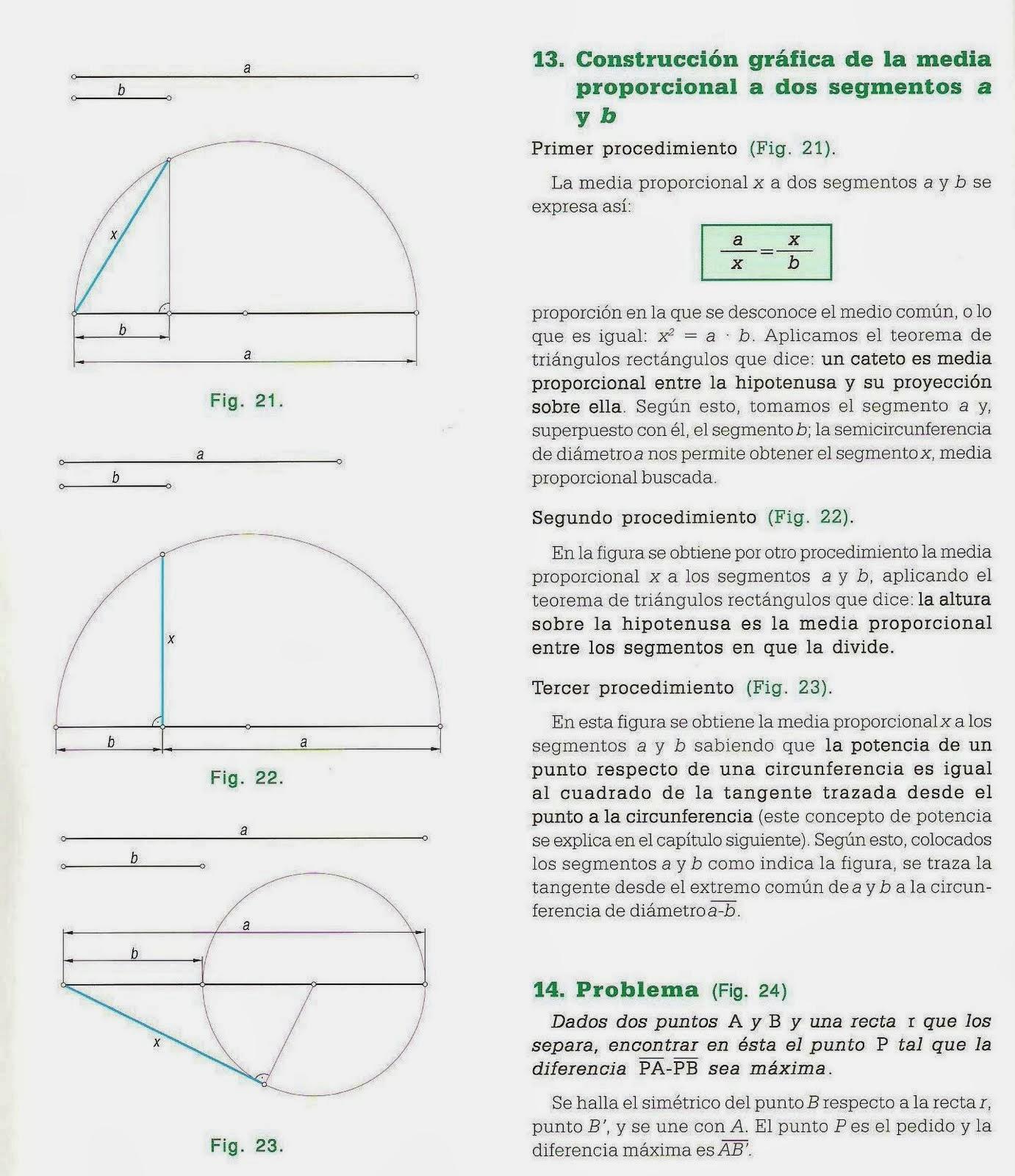 Geometría para Julia: Cuarto, Media y Tercera proporcional