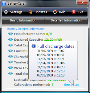 Saving Battery With BatteryCare 0.9 full discharge