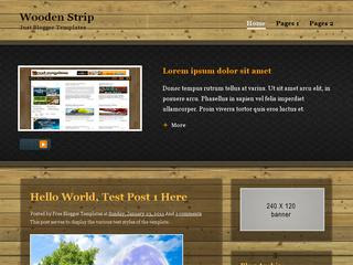 Wooden Strip Blogger Template