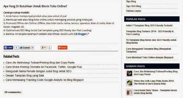 Navigasi Blog SEO Friendly