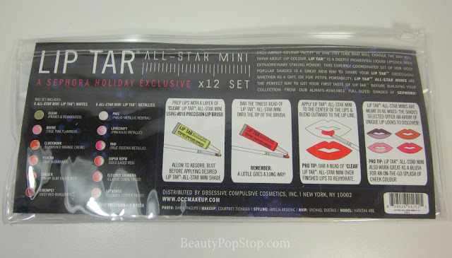 occ lip tar all-star mini x 12 set swatches and review
