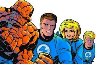 Dibujo de Los 4 Fantásticos por Jack Kirby