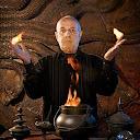 El supervisor de efectos especiales, John Richardson, en la puerta de la Cámara de los Secretos