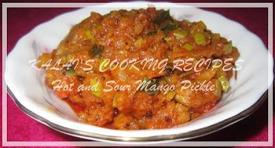 Parrot Beak Mango Pickle / Kili Mooku Maangai Oorugai