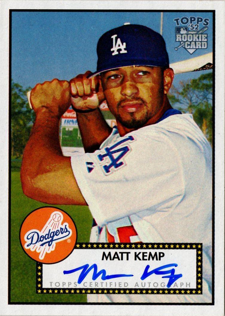 Kemp Autographed my Newest Matt Kemp Autograph
