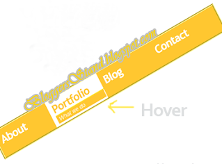 Stylish Yellow Colour With Hover Effect Navigation Menu Bar for blogger