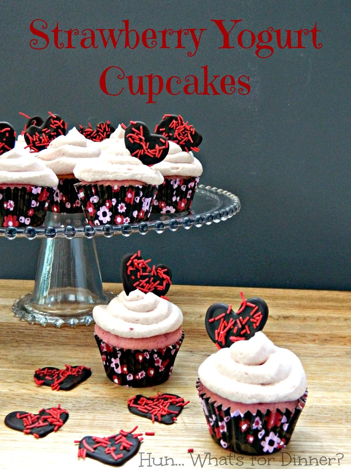 Strawberry Yogurt Cupcakes for Valentine's Day