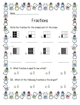 math worksheet : smiling and shining in second grade fraction freebie : Hershey Bar Fraction Worksheet