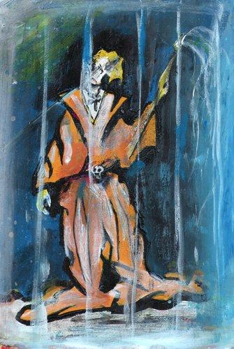 Artista gabbia dipinti pittura orme magiche quadro dipinto disegno pittura spirituale arte zen