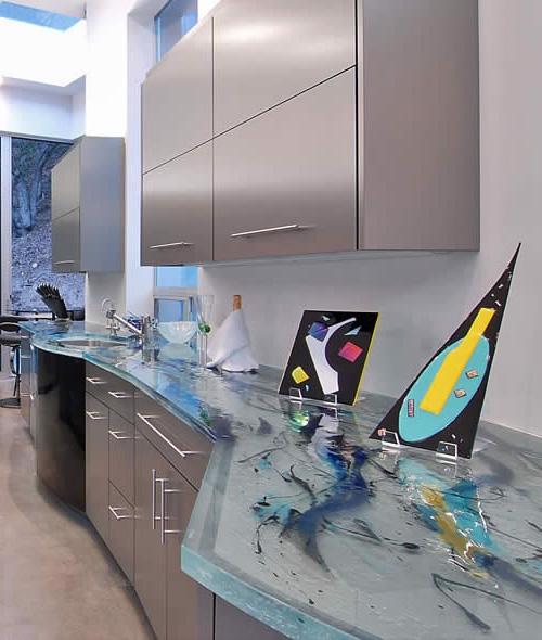 Encimeras modernas de cristal