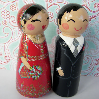 100 9426 - Beautiful Indian Bride & Groom Cake Toppers...