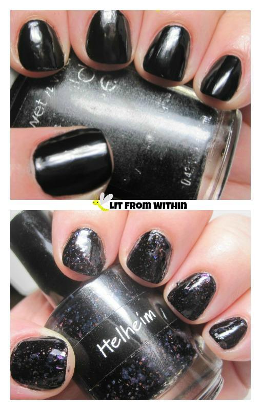 Wet 'n Wild Black Creme with CrowsToes Helheim