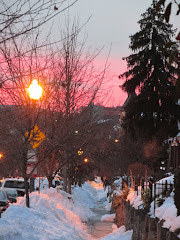 Cool Down with a Sunset Snow Scene