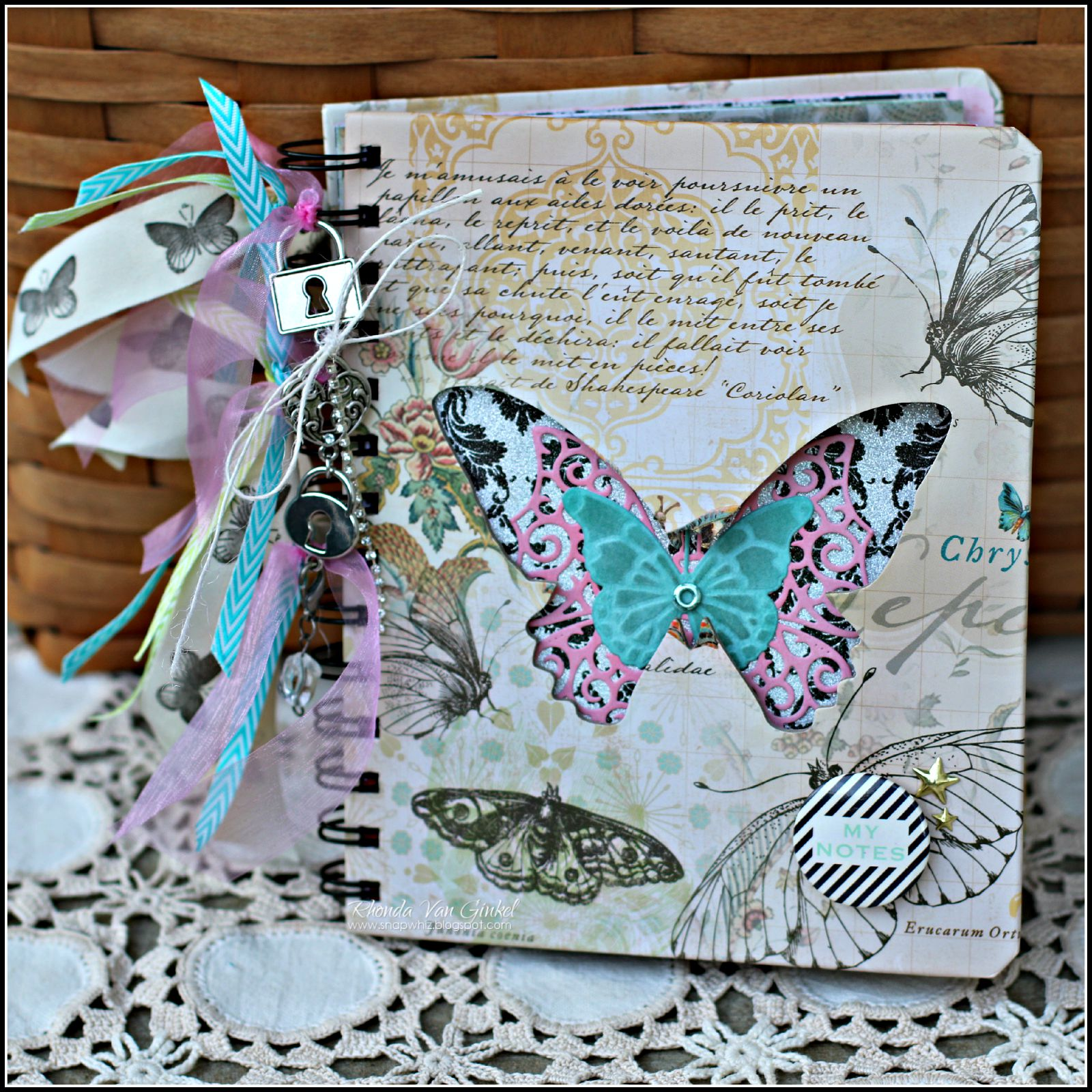 Mariposa Mini Album for DCWV designed by Rhonda Van Ginkel