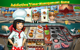 Screenshots of the Cooking Fever for Android tablet, phone.