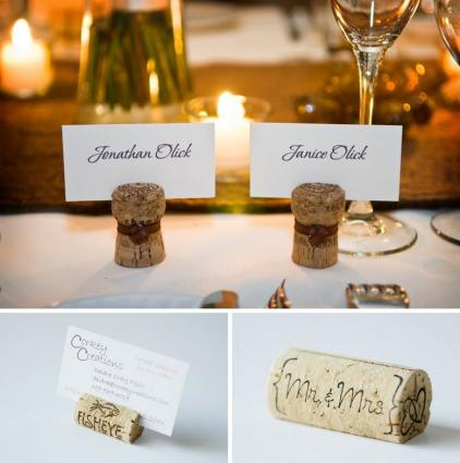 Craft Ideas  Tags on Wedding Name Tags Held By Corks Example