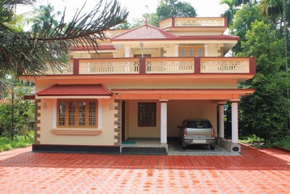 Kerala model low cost house plans for 1100 square feet for Low cost per square foot house plans