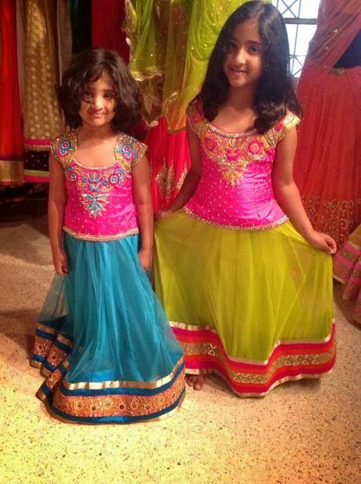 Cute Kid in Net Skirts